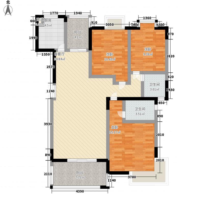 万宁万利隆花园E户型3室2厅1卫1厨