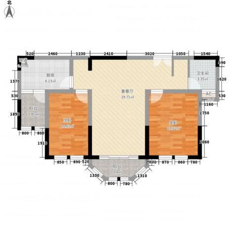 衡山城2室1厅1卫1厨81.81㎡户型图