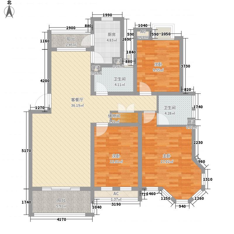 洪港118.00㎡小区户型3室