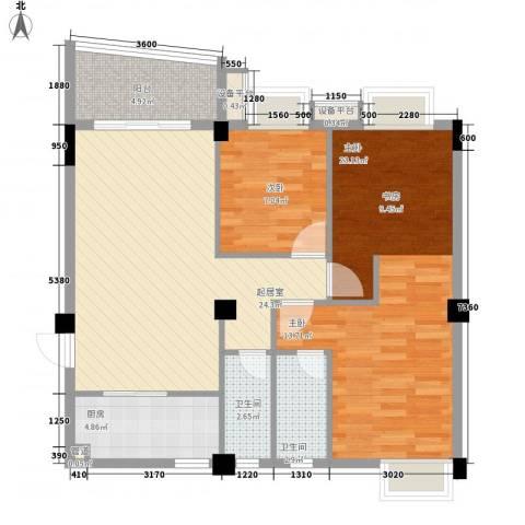 泰景花园2室0厅2卫1厨100.00㎡户型图