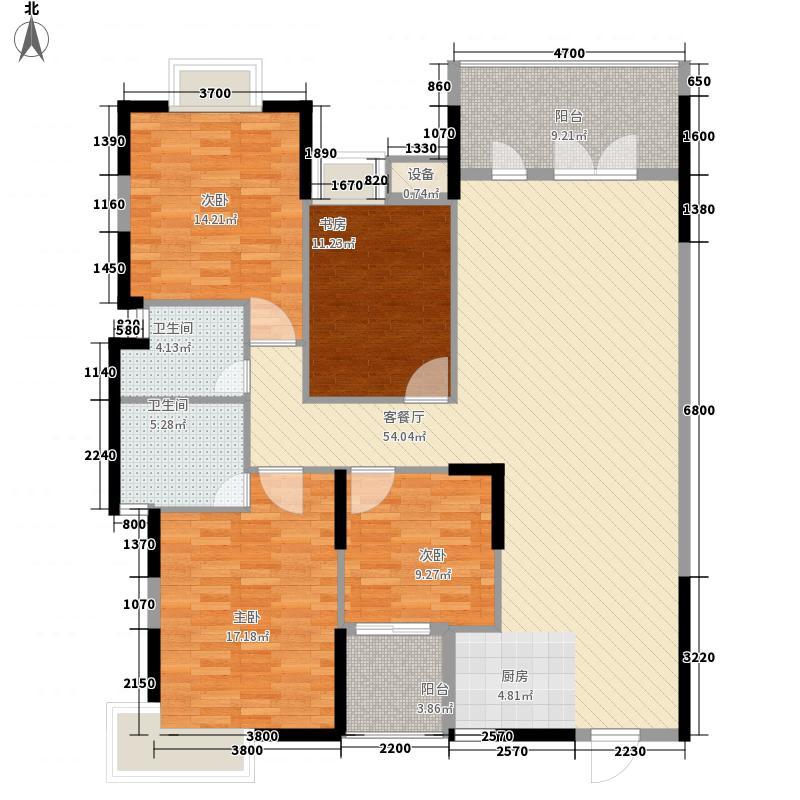 骋望骊都162.00㎡C2-1-01户型4室2厅1卫1厨