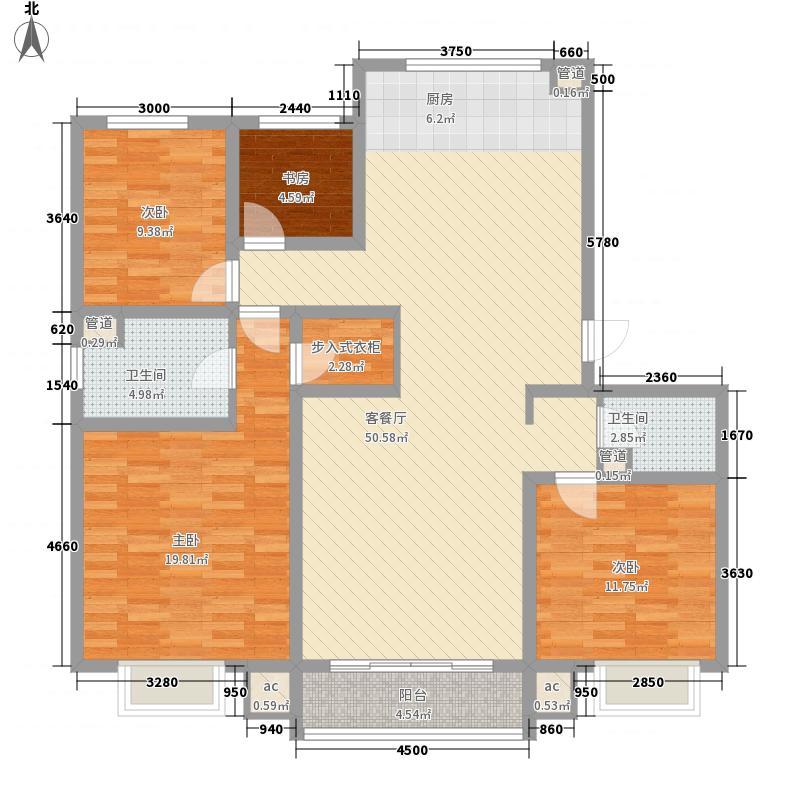 兴安丽景161.03㎡兴安丽景户型图户型图3室2厅2卫1厨户型3室2厅2卫1厨
