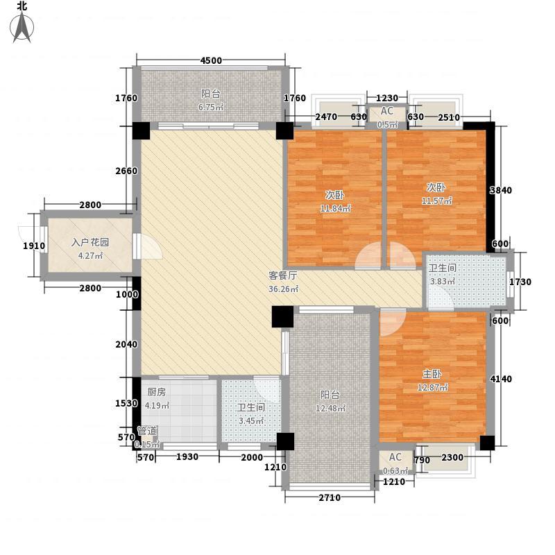 圣弗兰广场13.40㎡A2户型3室2厅2卫1厨