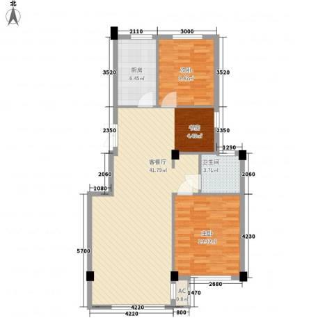 亚细亚度假村2室1厅1卫1厨104.00㎡户型图