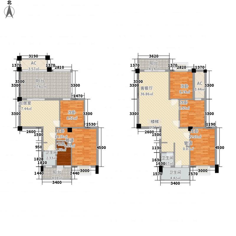 香堤雅院150.95㎡1#楼6层06户型5室3厅2卫1厨