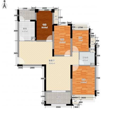 华邦光明世家4室1厅1卫1厨111.00㎡户型图