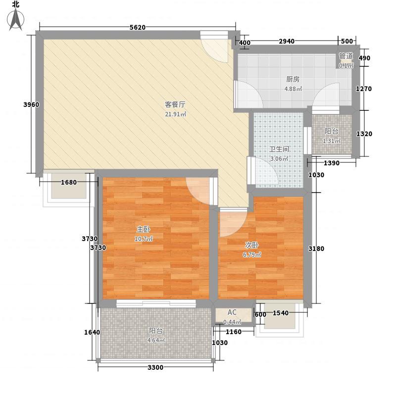 琥珀南村78.00㎡琥珀南村2室户型2室