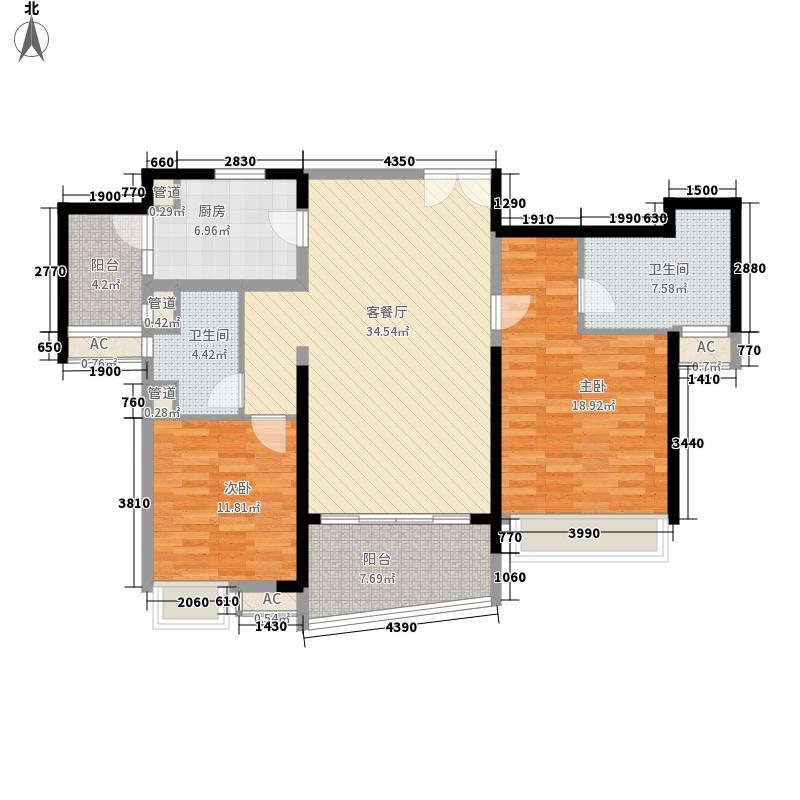 成都ICC128.00㎡4号楼户型2户型2室2厅2卫1厨