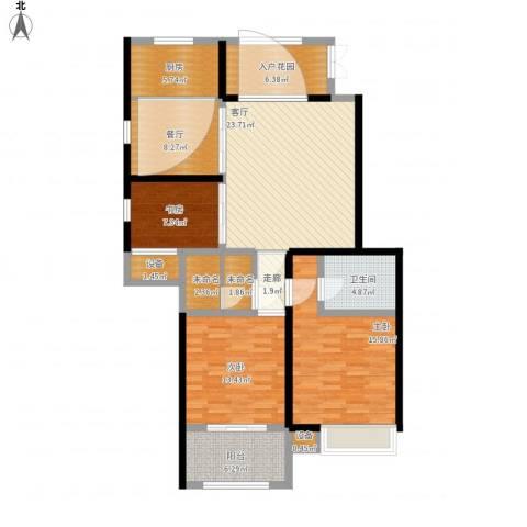 友创健康城3室2厅1卫1厨146.00㎡户型图