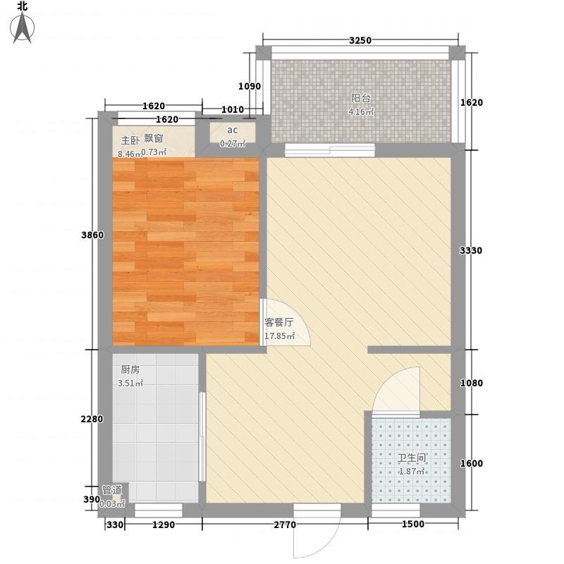 美林湖国际社区52.55㎡美林湖国际社区户型图B1户型图1室2厅1卫1厨户型1室2厅1卫1厨