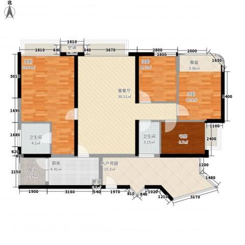 龙园8号4室1厅2卫1厨111.03㎡户型图