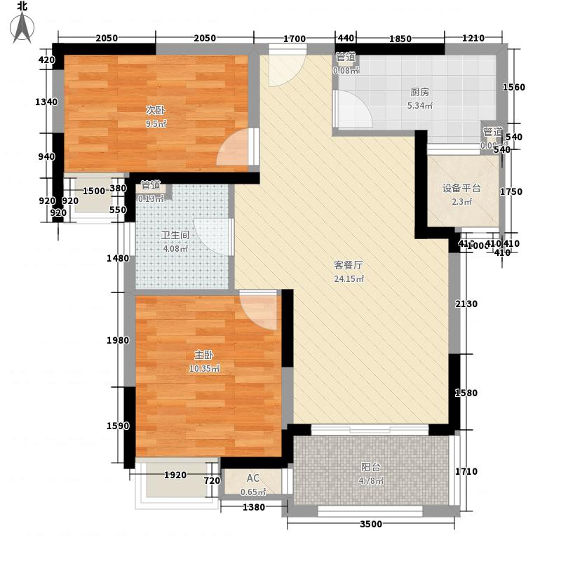琥珀南村65.00㎡琥珀南村2室户型2室