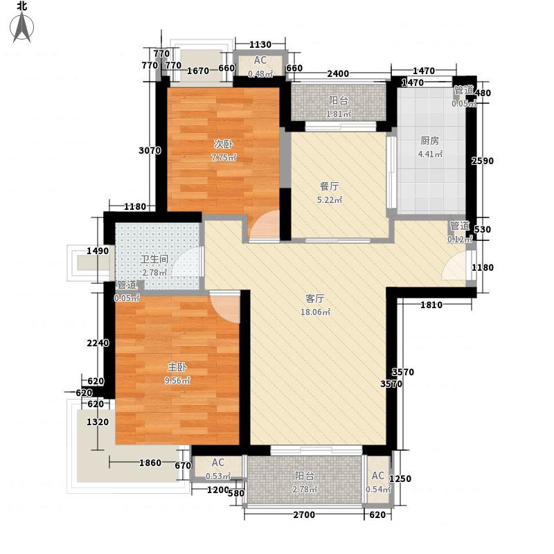 琥珀南村80.00㎡琥珀南村2室户型2室