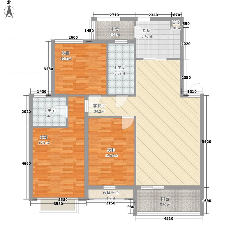 瑞佳花园118.04㎡瑞佳花园户型图A1户型3室2厅2卫户型3室2厅2卫
