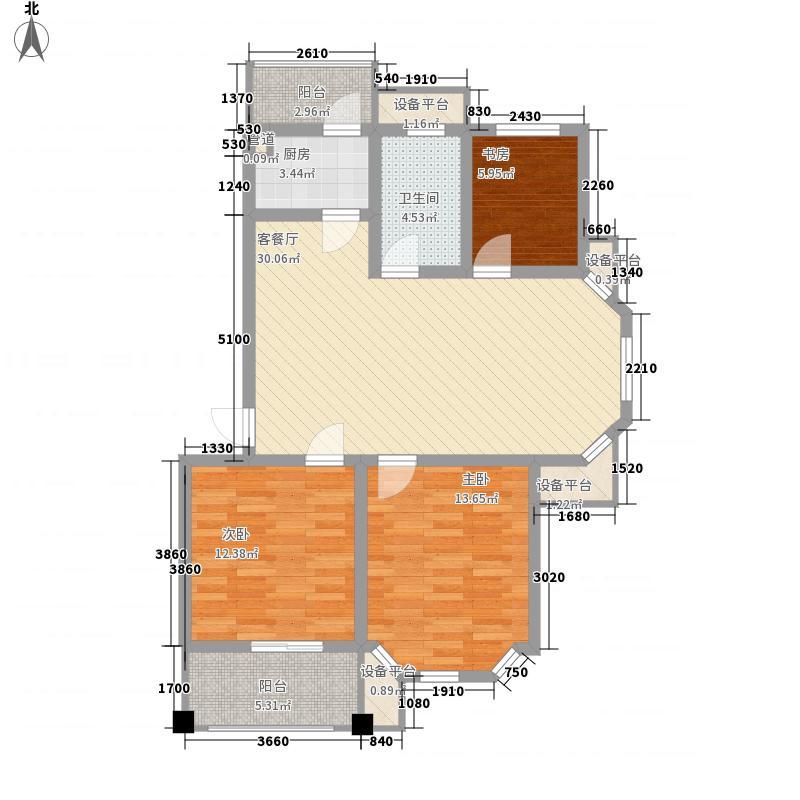 恒兴金都华庭95.00㎡恒兴金都华庭户型图三室两厅一厨一卫95平米3室2厅1卫1厨户型3室2厅1卫1厨