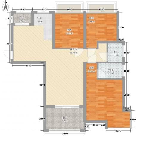 泉倾天下3室1厅2卫0厨112.00㎡户型图