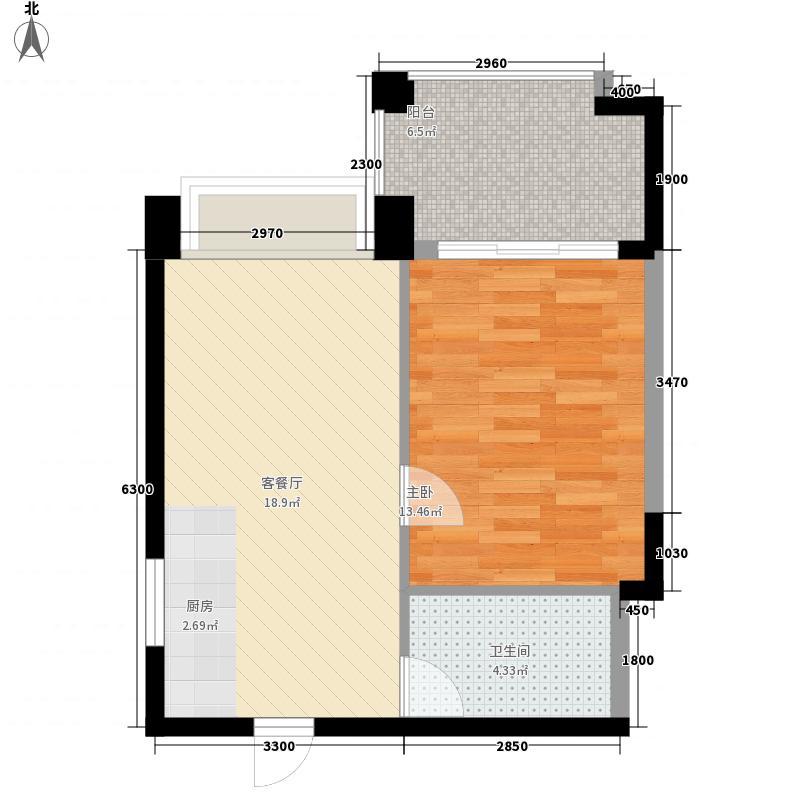 宇全清水湾55.27㎡宇全清水湾户型图A1户型1室1厅1卫1厨户型1室1厅1卫1厨
