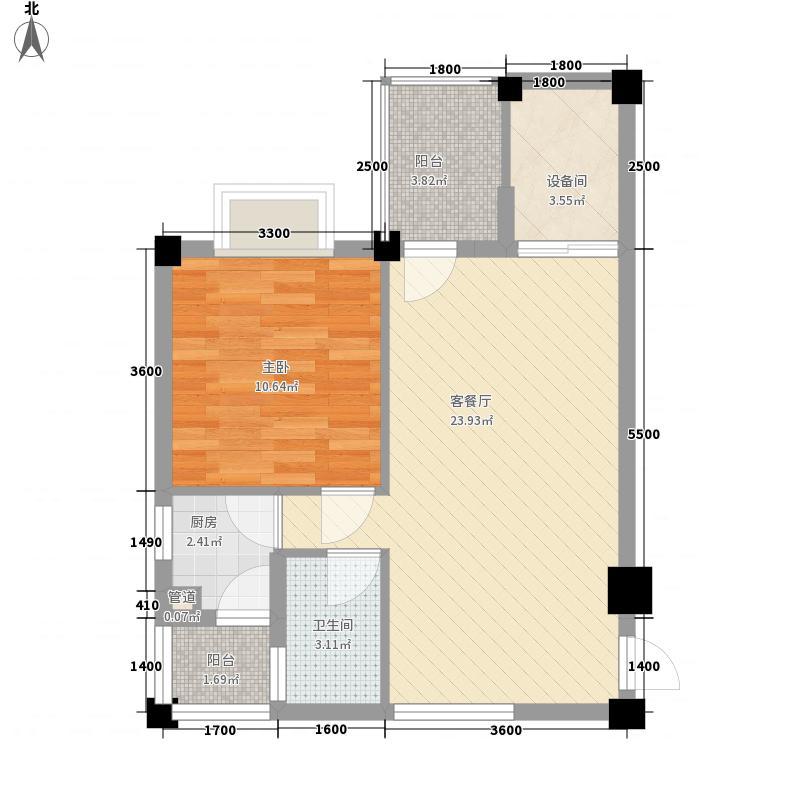 明珠温泉花园66.33㎡明珠温泉花园户型图b1户型图1室1厅1卫1厨户型1室1厅1卫1厨