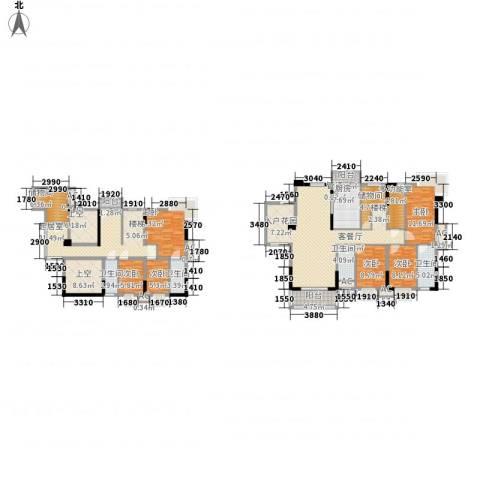 石竹山水园四期6室1厅4卫1厨267.00㎡户型图