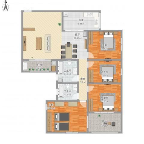 华景园D栋4室1厅2卫1厨189.00㎡户型图