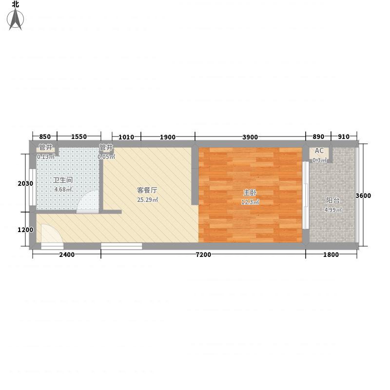 梅岭雅居48.92㎡梅岭雅居户型图一期A户型1室1厅1卫户型1室1厅1卫