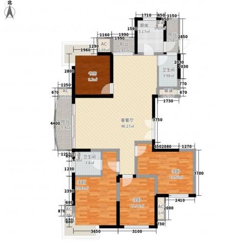 杰仕豪庭4室1厅2卫1厨171.00㎡户型图