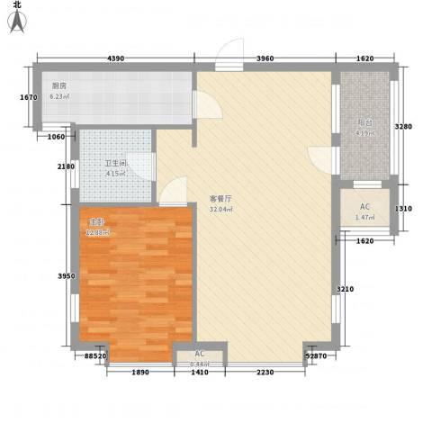 亚细亚度假村1室1厅1卫1厨86.00㎡户型图