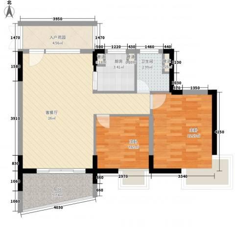 桃源居2室1厅1卫1厨93.00㎡户型图