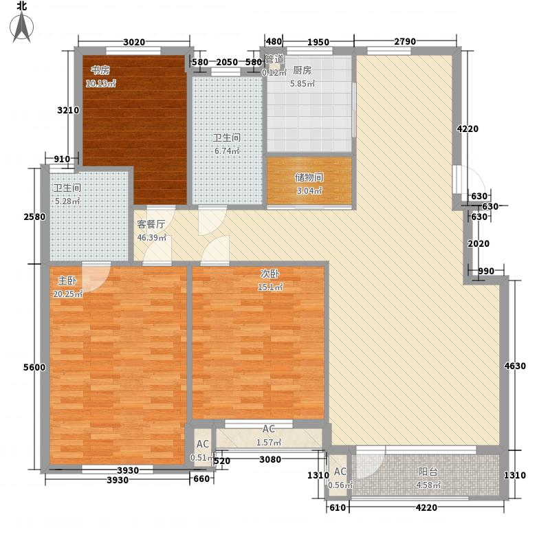 悦泰福里145.43㎡悦泰福里户型图8#楼E户型3室2厅2卫1厨户型3室2厅2卫1厨