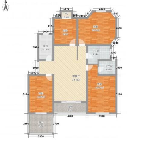 泉山森林海4室1厅2卫1厨147.00㎡户型图
