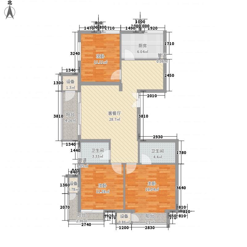 金隅凤麟洲115.00㎡3#3A户型3室2厅2卫1厨