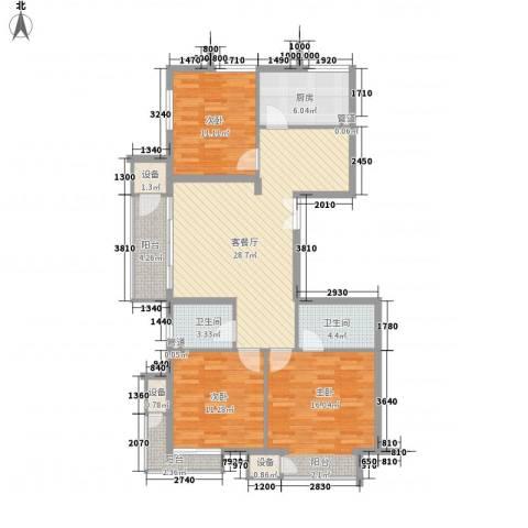 金隅凤麟洲3室1厅2卫1厨115.00㎡户型图