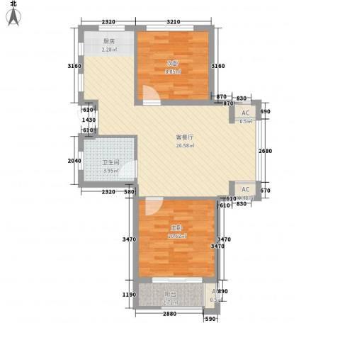 南美假日2室1厅1卫0厨77.00㎡户型图