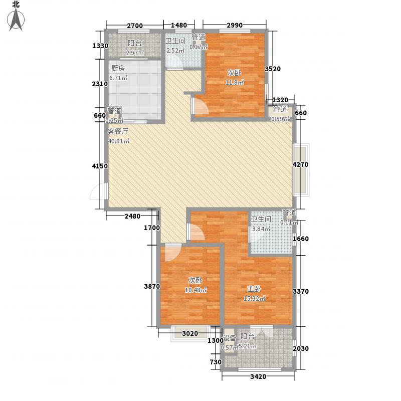 瀚唐133.00㎡20-21#6户型3室2厅2卫1厨