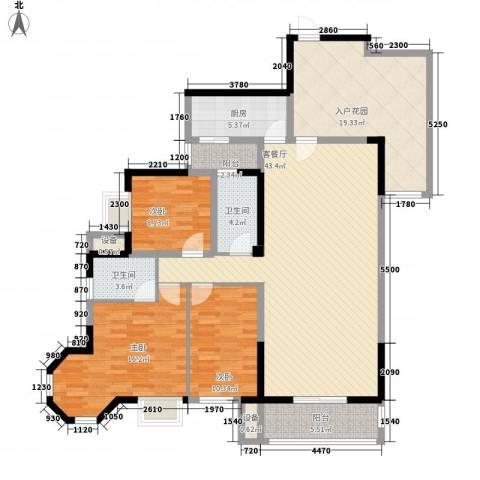 莱茵苑3室1厅2卫1厨171.00㎡户型图