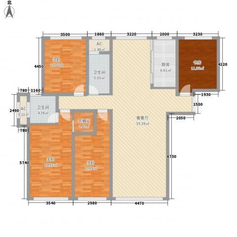善上居4室1厅2卫1厨137.44㎡户型图
