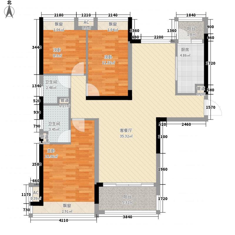 星晨时代豪庭星晨时代豪庭户型图4座13-24层03单位130.2902㎡3房2厅户型2厅
