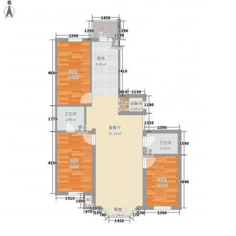 林海华庭3室1厅2卫0厨97.00㎡户型图