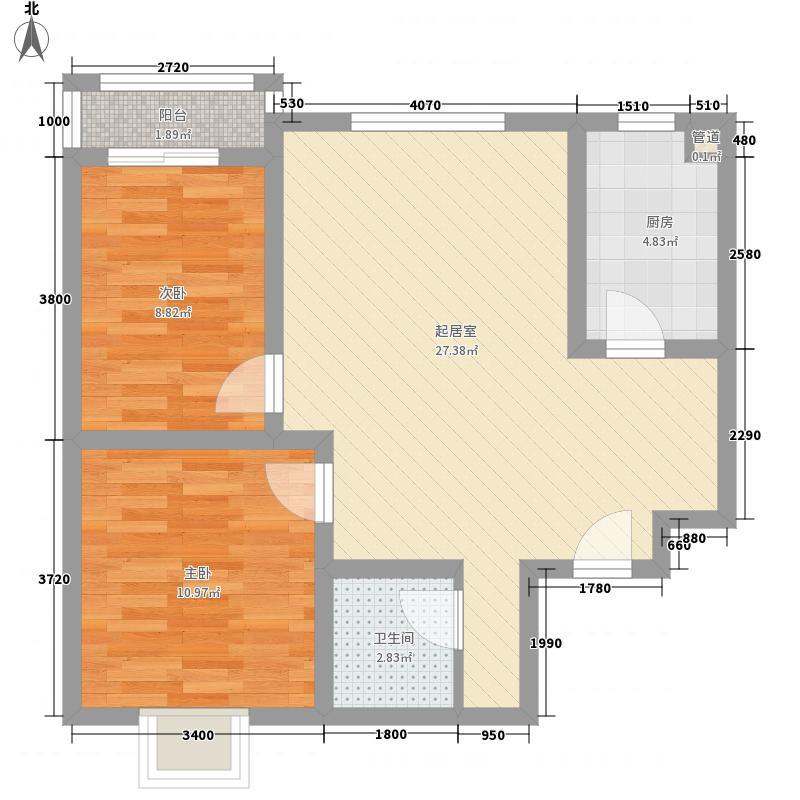 享堂新城84.66㎡享堂新城户型图户型图H2室2厅1卫1厨户型2室2厅1卫1厨