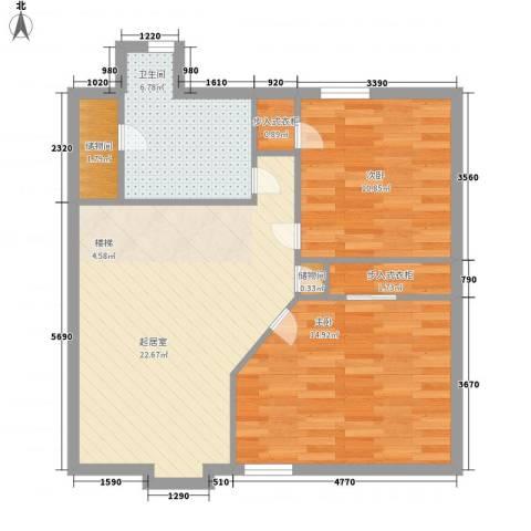 孔雀湖原乡国际假日基地2室0厅1卫0厨168.00㎡户型图