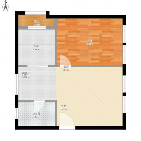金地假日广场1室1厅1卫1厨78.00㎡户型图