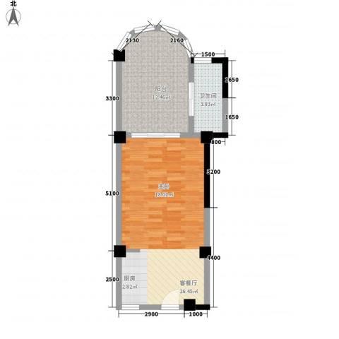 庄园丽都1厅1卫0厨48.00㎡户型图