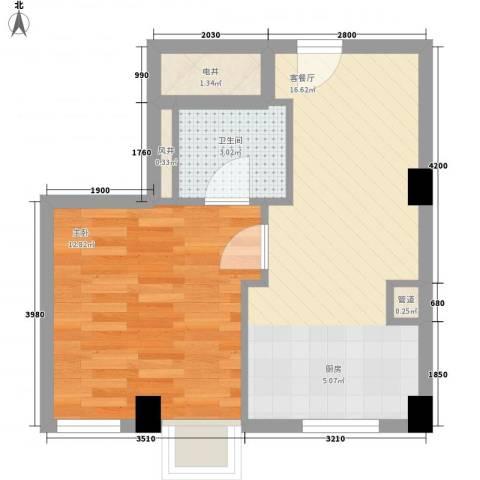 杰仕豪庭1室1厅1卫0厨34.38㎡户型图