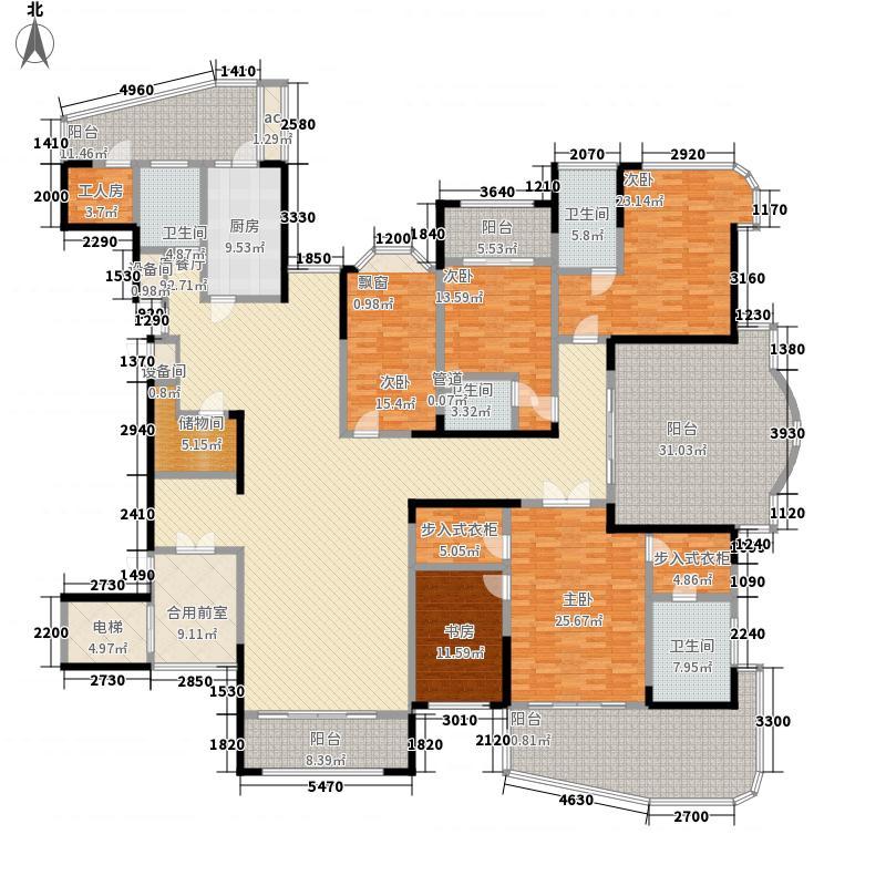 红橡华园355.00㎡6栋31层南北通透A户型