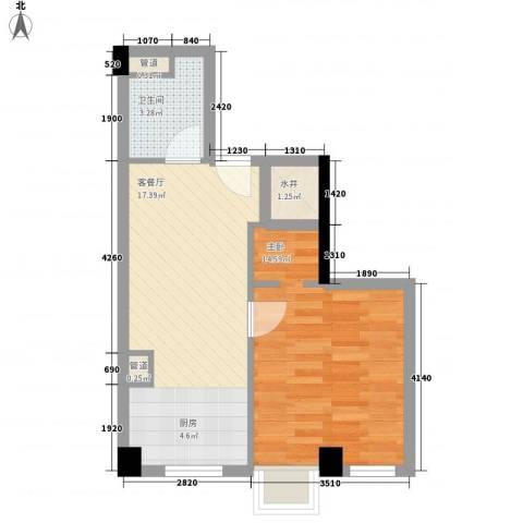 杰仕豪庭1室1厅1卫0厨54.00㎡户型图