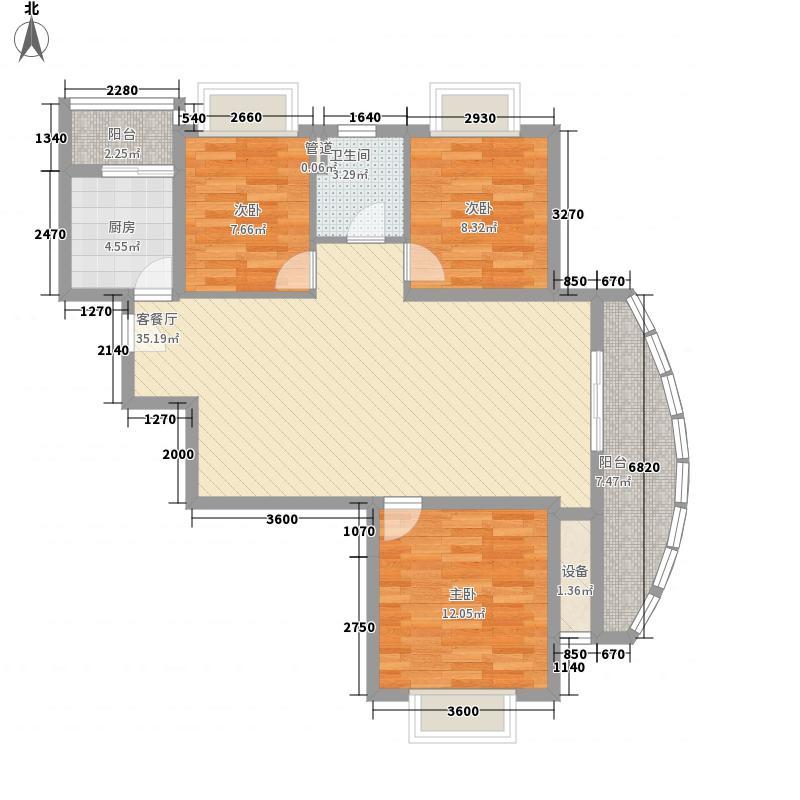大学康城美域115.00㎡12#楼01、04户型3室2厅