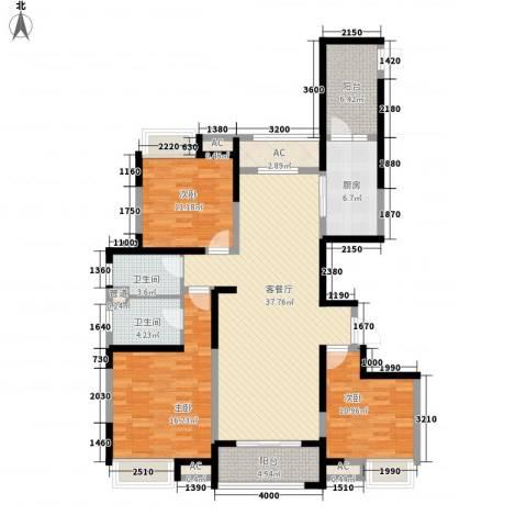 徽盐世纪广场3室1厅2卫1厨106.94㎡户型图