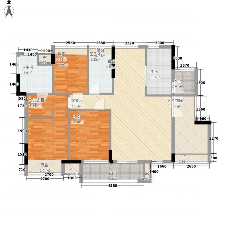 丰泰旗山绿洲125.00㎡丰泰旗山绿洲户型图5栋1单元02户型3室2厅2卫1厨户型3室2厅2卫1厨