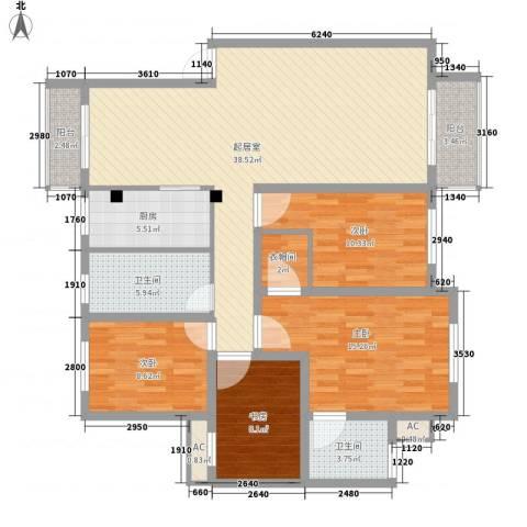 华丰星城4室0厅2卫1厨152.00㎡户型图