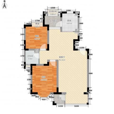 景湖春晓2室1厅1卫1厨79.40㎡户型图